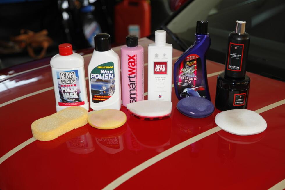 Bilpolish: Det finnes et uttall av poleringsremedier. Kjente merker er som regel greit, alternativt les deg opp gjennom tester.  Foto: RUNE M. NESHEIM