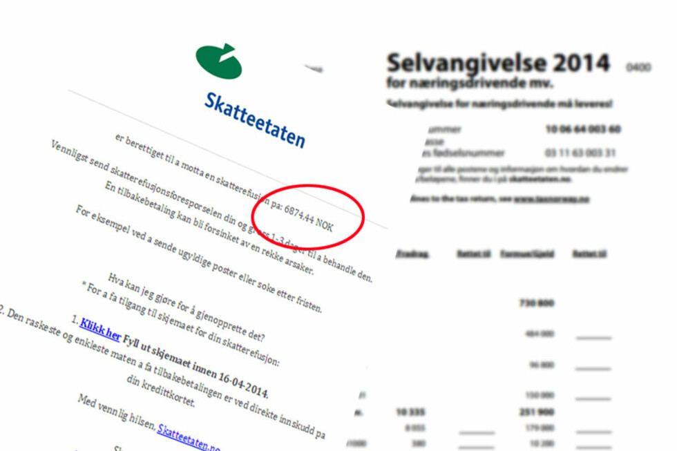 IKKE SVAR: For å få din skatterefusjon, ber svindlerne om at du fyller ut ditt kredittkortnummer i et eget skjema. Det bør du åpenbart ikke gjøre. Foto: ILLUSTRASJON