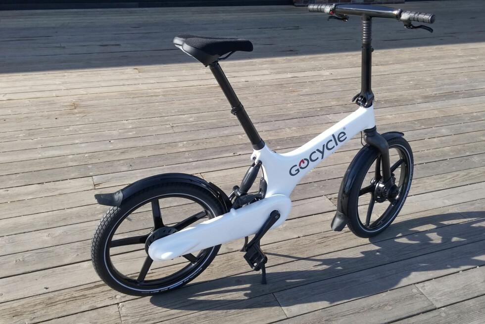 Gocycle: Kompakt og stilig, med flere spennende løsninger. Foto: BRYNJULF BLIX