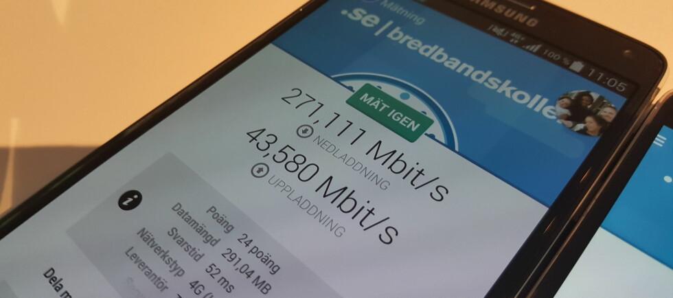 RASKT: Med teoretisk topphastighet på 300Mbps åpner Telenor sitt «4G+»-nett i dag. Foto: PÅL JOAKIM OLSEN