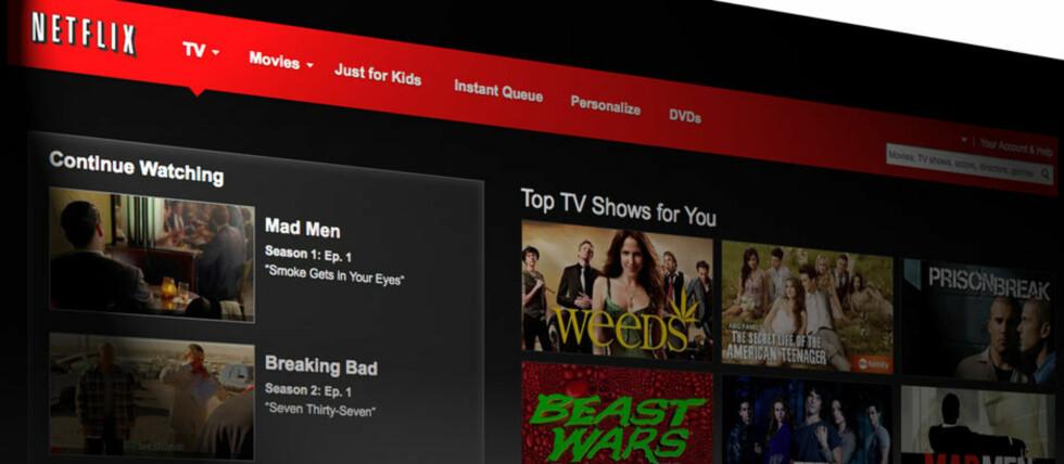 POPULÆR TJENESTE: Netflix har tatt verden med storm, og mange bruker tjenester som gir tilgang på annet innhold enn det man egentlig får lov til å se. Foto: NETFLIX