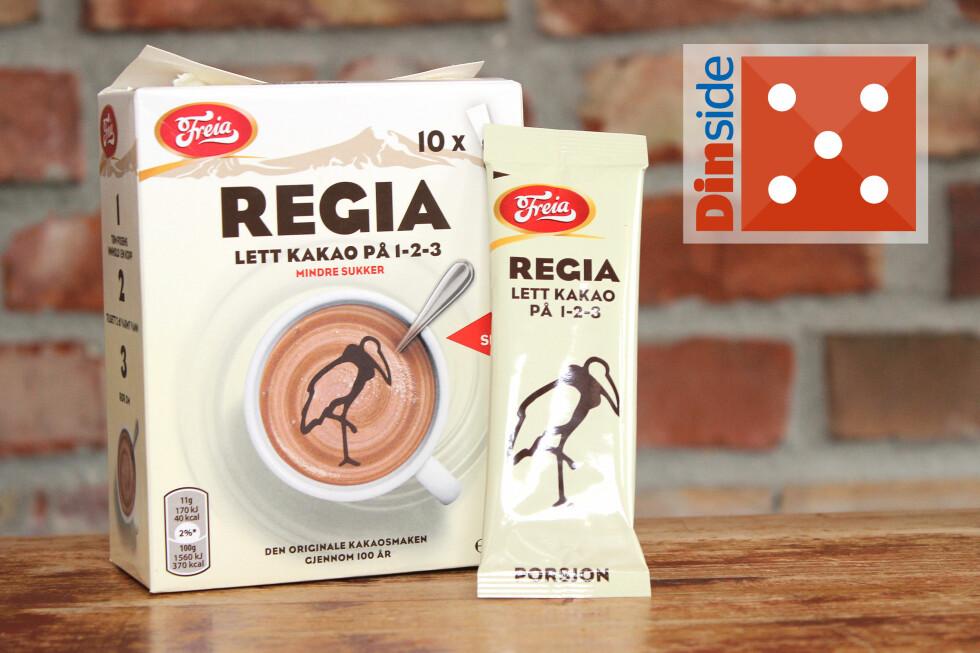 LETT MEN FYLDIG: Regia Lett kakao på 1 2 3 har 24 prosent fettredusert kakao og 40 kcal per kopp. Pris: 43 kroner for ti porsjoner, 4,30 kroner per kopp. Foto: OLE PETTER BAUGERØD STOKKE