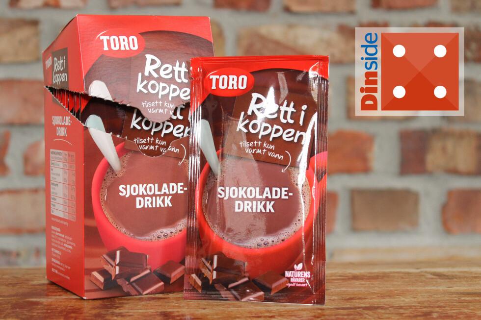 GREI: Toro rett i koppen sjokoladedrdikk inneholder 10 prosent fettredusert kakao og har 131 kcal per porsjon. Pris: 22,40 kroner for 10 porsjoner. 2,40 kroner per kopp. Foto: OLE PETTER BAUGERØD STOKKE