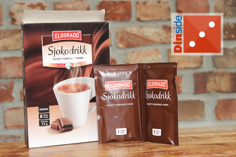 SØT: Eldorado Sjokodrikk har 13 prosent fettredusert kakaopulver og 99 kcal per kopp. Pris: 22,20 kroner for ti stykker, 2,20 kroner per kopp. Foto: OLE PETTER BAUGERØD STOKKE