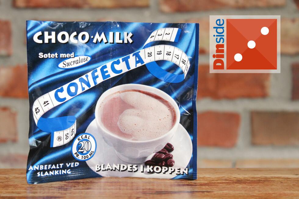 LETT: Confecta Choco-milk inneholder 25 prosent fettredusert kakaopulver og har 37,05 kcal per kopp. Pris: 11,90 kroner for to, 5,95 kroner per kopp. Foto: OLE PETTER BAUGERØD STOKKE