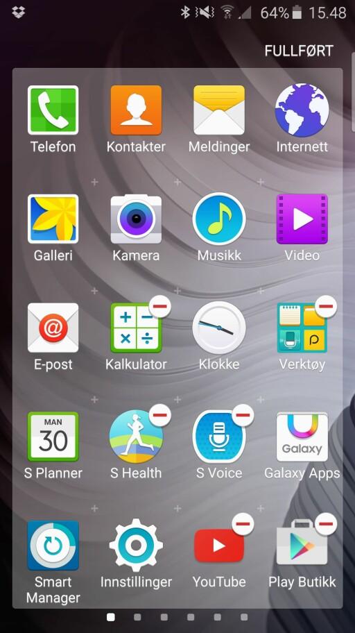 NEI TAKK: Om du ikke ønsker å bruke apper som S Voice og S Health er det enkelt å deaktivere dem, men slette dem får du ikke gjort.