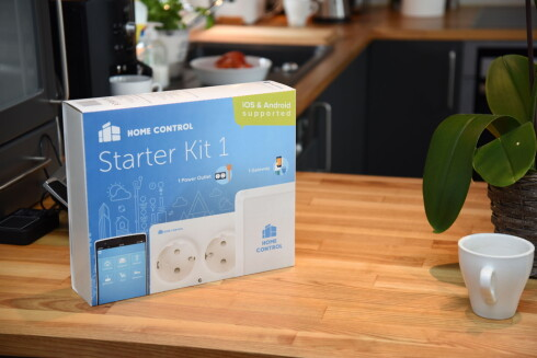 STARTPAKKEN: Både iOS og Android støttes via den norske produsenten Home Control.  Foto: JOHN BERGE