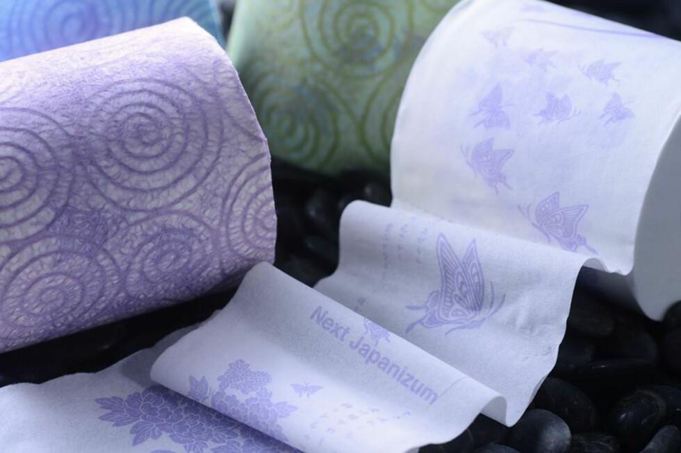TØRK MED STIL: Hanebisho-toalettpapiret er laget i spesielt fint papir fra Canada og etterbehanbdlet med vann fra Nyodo-elva i Japan. Foto: HANEBISHO