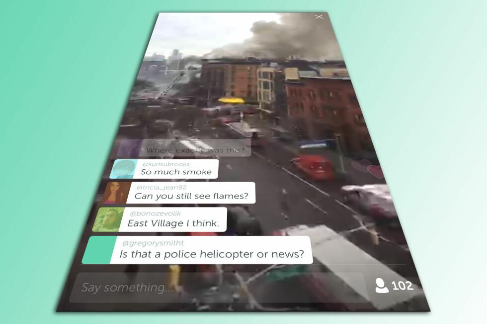 SLÅR DET AN? Livestreaming av mobilvideo er i skuddet. Nå har Twitter lansert Periscope, som lar hvem som helst lage direktesendt TV med mobilen. Foto: KIRSTI ØSTVANG