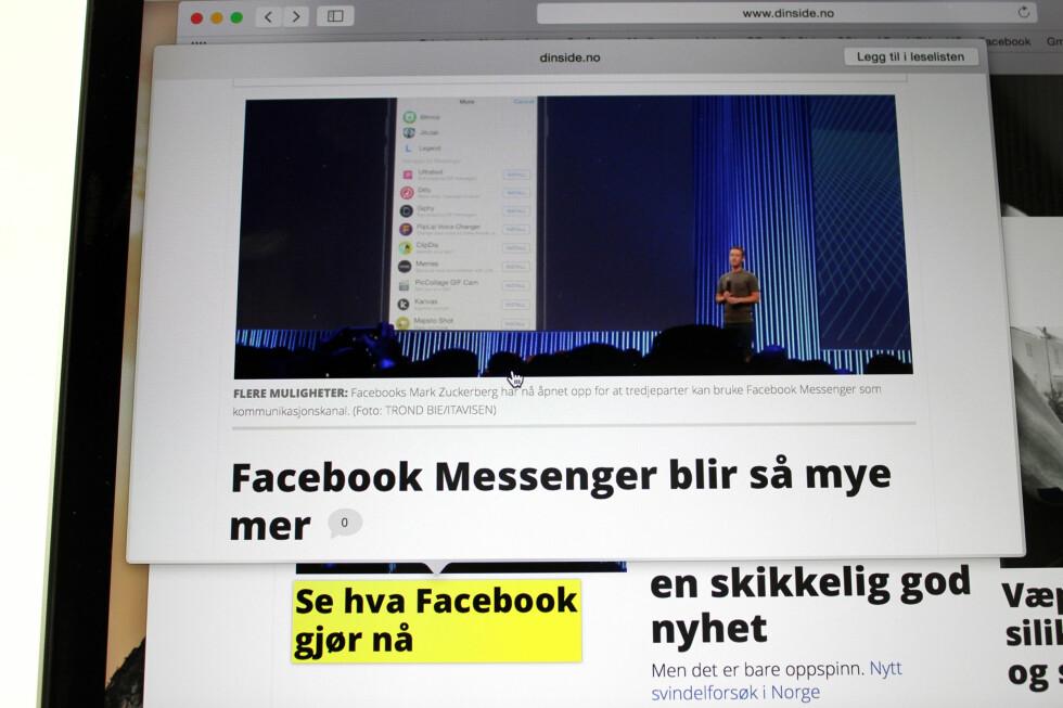 FORHÅNDSVIS LENKER: Se hva som skjuler seg på neste siden uten å gå vekk fra siden du er på. Foto: KIRSTI ØSTVANG