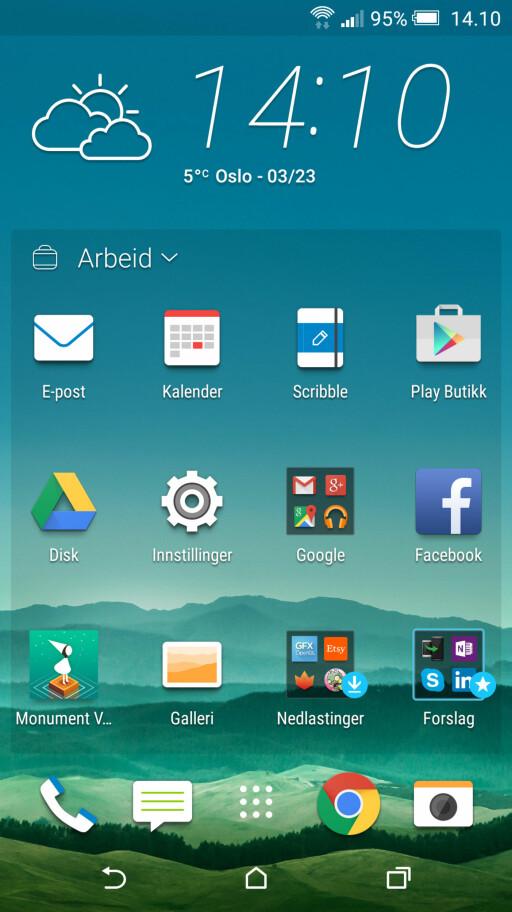RENT OG PENT: Brukergrensesnittet til HTC er friskt og moderne.  Foto: KIRSTI ØSTVANG