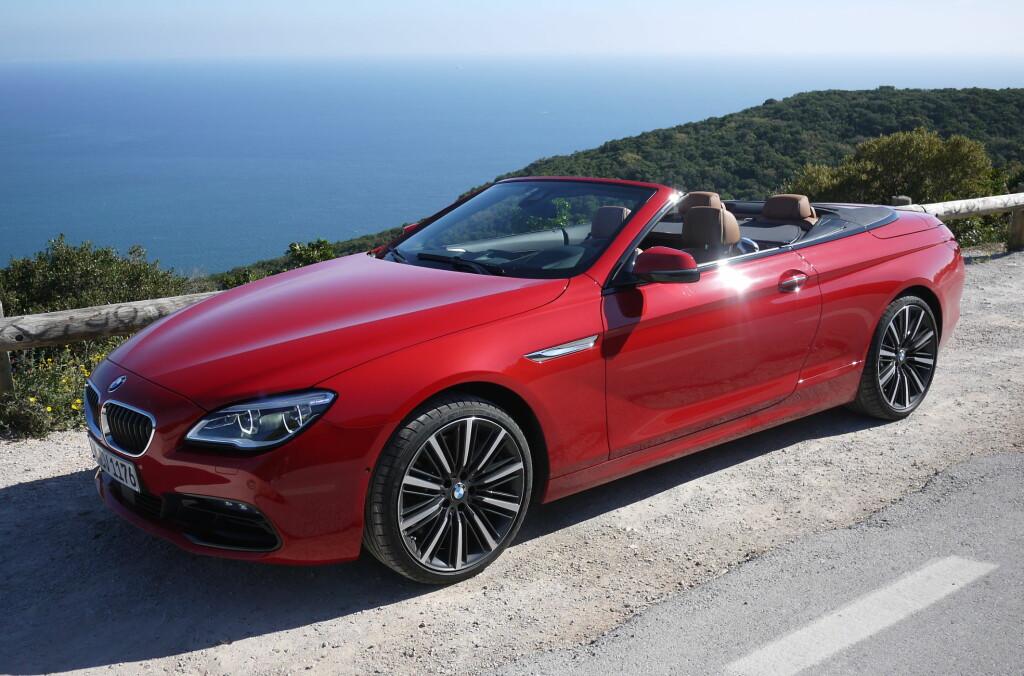 <b>ÅPNE GLEDER:</b> 6-serie Cabriolet er en hyggelig opplevelse når solen skinner.  Foto: Lord Arnstein Landsem