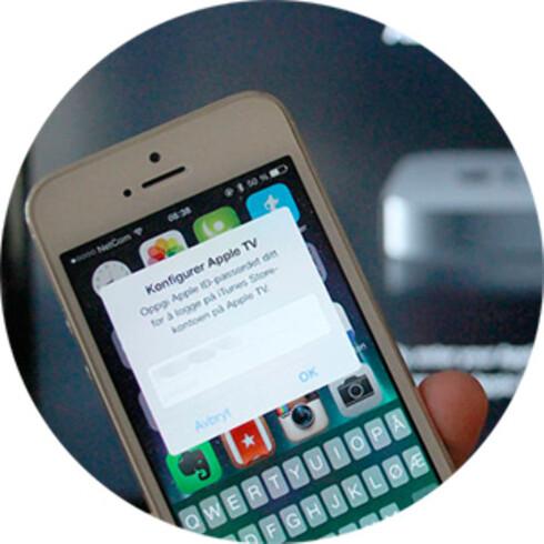 ENKELT: Har du en iPhone eller iPad, kan du spare litt tid når du setter opp Apple TV første gang.