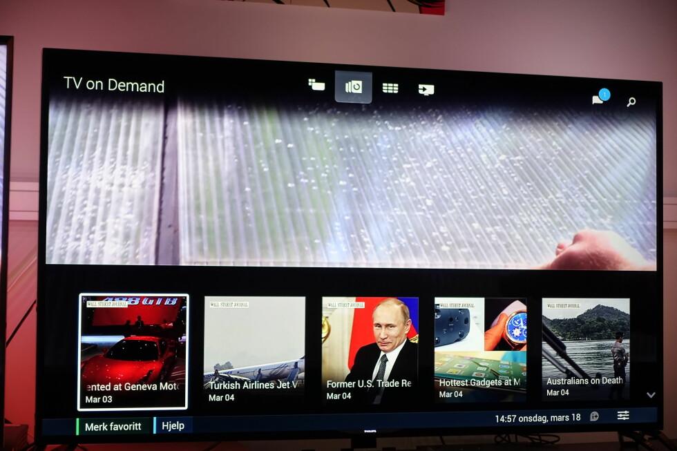 TV-on-Demand-meny. Foto: ØYVIND PAULSEN