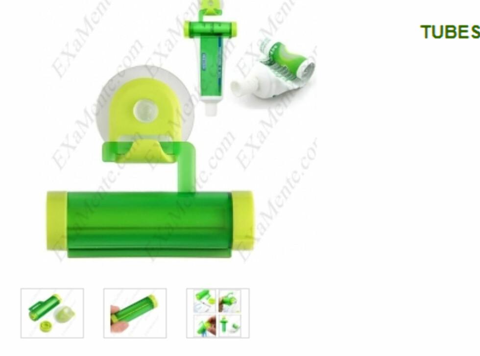 PRAKTISK: Tubeskviser med oppheng fra Examente.com til 24,99 kroner. Foto: PRODUSENTEN