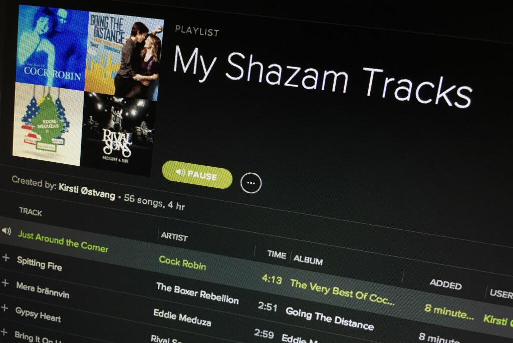 <b>PRAKTISK:</b> Nå slipper du å spore opp låtene du har funnet med Shazam selv. Foto: KIRSTI ØSTVANG