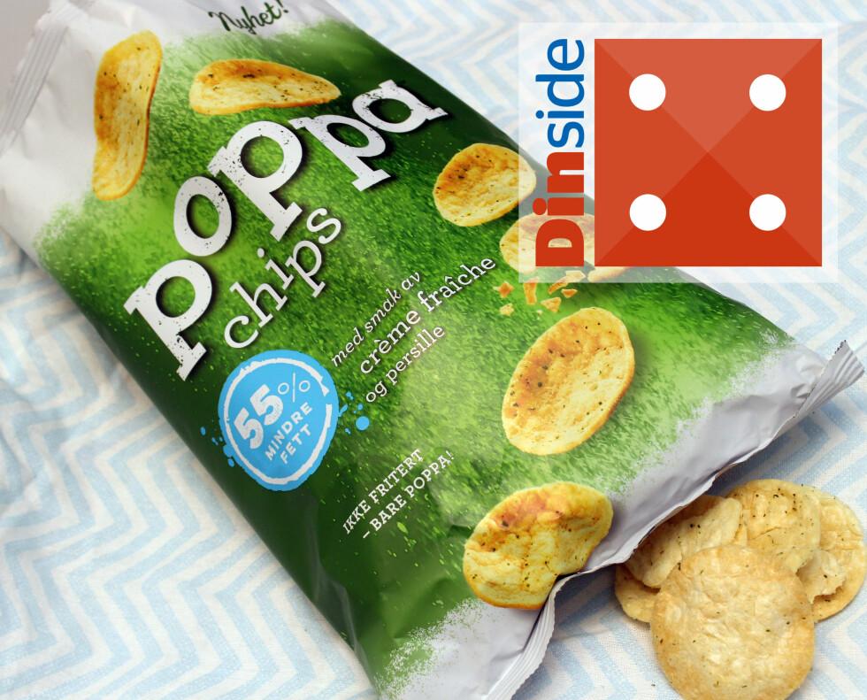 <strong><b>POPPA, IKKE FRITERT:</strong></b> 100 gram, 420 kcal og 2,9 gram salt per 100 gram. Foto: KRISTIN SØRDAL