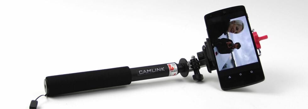 TØFF: CamLink har et skikkelig tøft utseende med en tykk og solid stang. Foto: KIRSTI ØSTVANG