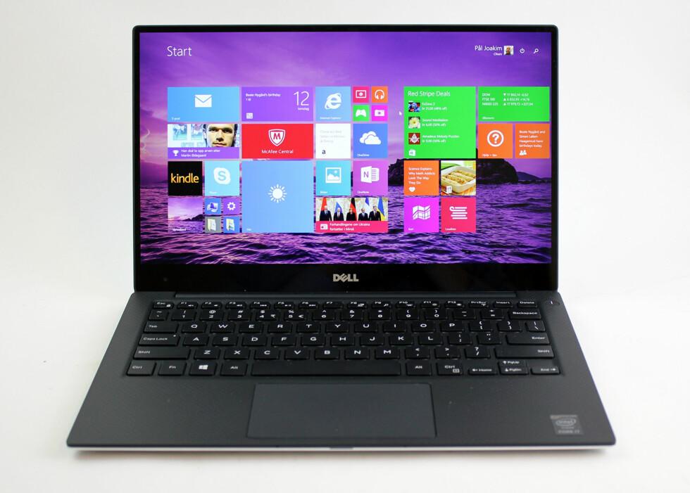 DELL XPS 13: Slik ser Dells nyeste maskin ut. 13-tommers skjerm, syltynn ramme og kompakt og fin utforming.