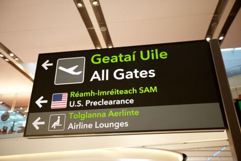 HER KAN DU ALLERDE GJØRE DET: Dublin og Shannon er de eneste europeiske flyplassene som har en preclearance-ordning per i dag. Her er bilde fra Terminal 2 i Dublin. Foto: ALL OVER PRESS
