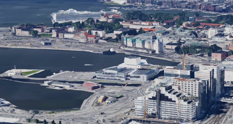 <strong><b>FLYFOTO:</strong></b> Google Earth er også bakt inn i Maps-løsningen og lar deg se bilder av landskapet fra luften. Foto: PÅL JOAKIM OLSEN