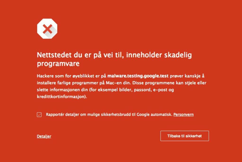 HOLD DEG UNNA: Dette skjermbildet er ikke rødt uten grunn. Foto: PÅL JOAKIM OLSEN