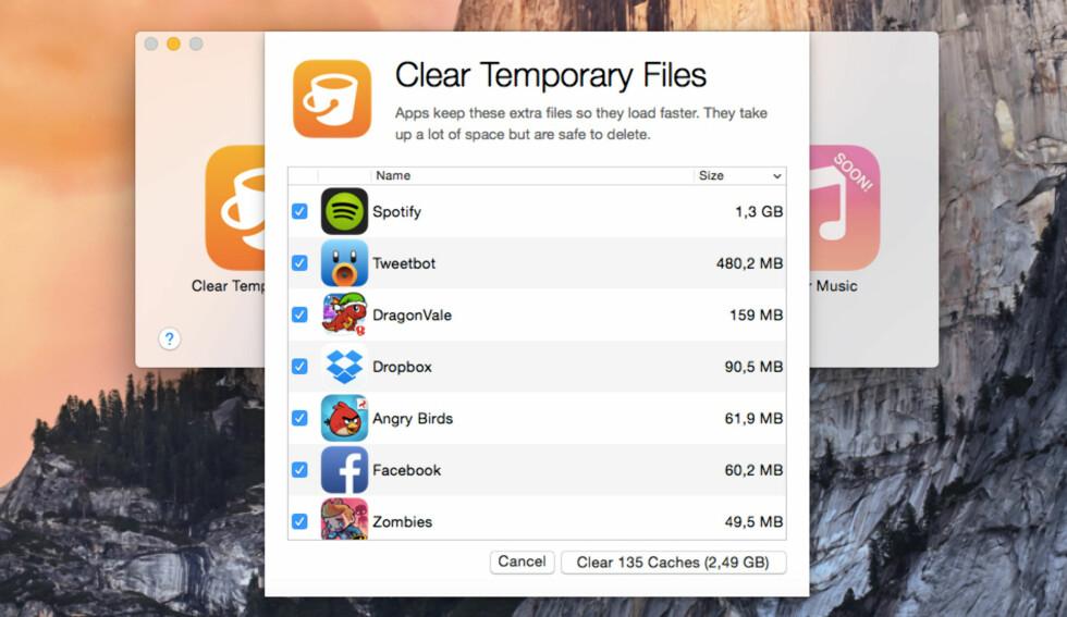 FJERN «ANNET»:  Ved å slette midlertidige filer, kvitter du deg med data som ofte havner under «Annet»-kategorien når du kobler iPhone-en til iTunes på datamaskinen. Foto: KIRSTI ØSTVANG