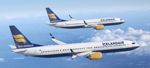 <strong><B>BEST I VERDEN:</strong></b> Islandske Icelandair har flest flykilometer med nett, ifølge RouteHappy. Foto: ICELANDAIR
