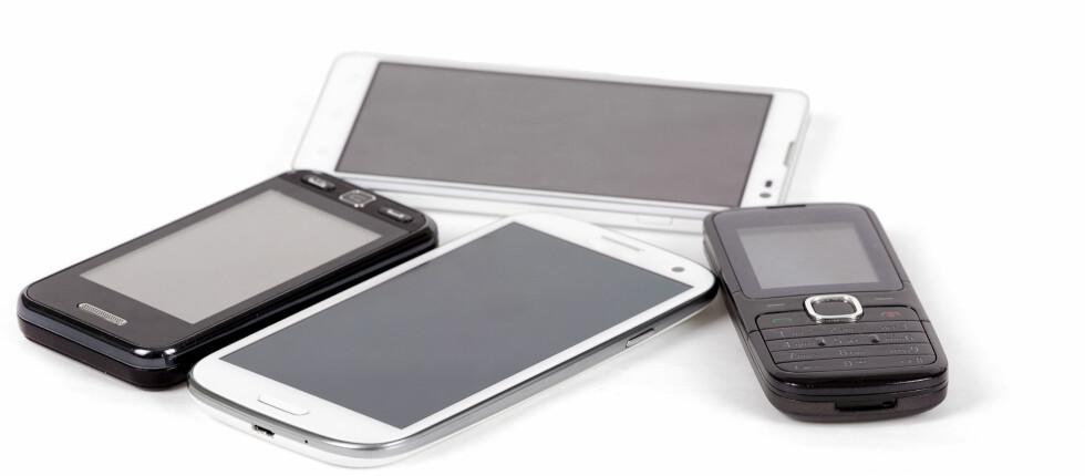 IKKE I BRUK? En gammel telefon eller nettbrett kan brukes til så mangt. Foto: COLOURBOX