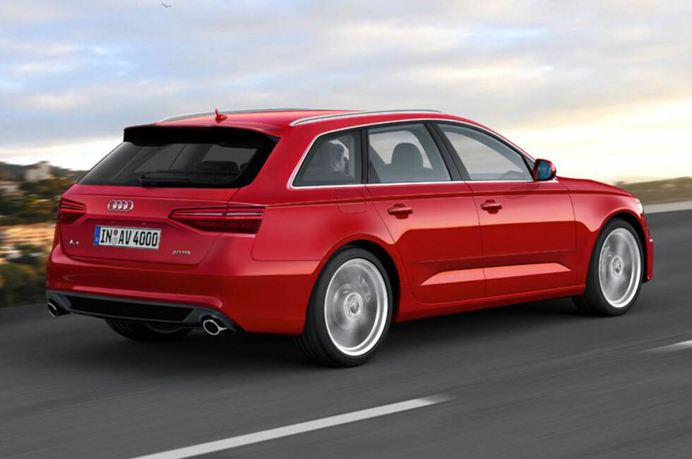 INGEN TVIL: Slik mener Automedia at neste generasjon Audi A4 vil se ut.  Foto: AUTOMEDIA