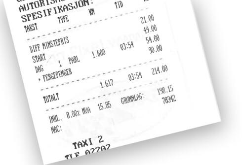 FEIL: Fergepenger på Oslo Lufthavn? Nei, se det var feil ... men de skulle likevel ha 90 kroner ... i flyplassavgift. Foto: KRISTIN SØRDAL
