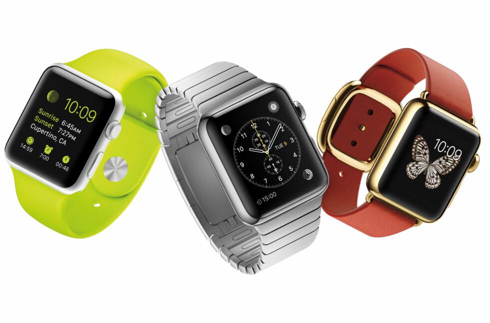 APPLE WATCH: Både Apple og deres konkurrenter venter nå spent på lanseringen. Foto: APPLE