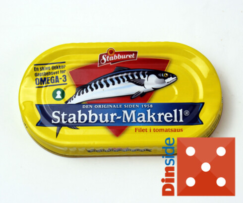Test av makrell i tomat