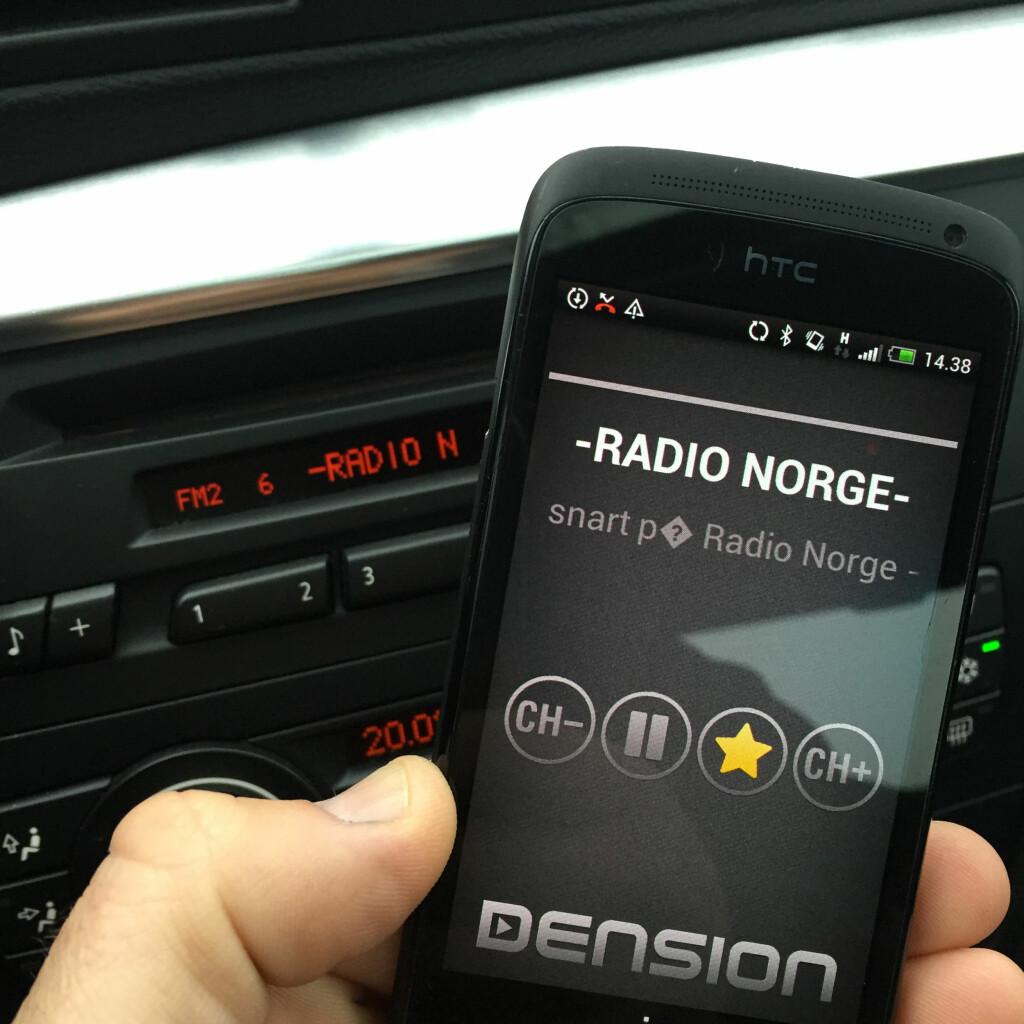 DENSION DAB+P: Helt sjult installasjon. Alt styres med din smarttelefon. Foto: RUNE M. NESHEIM