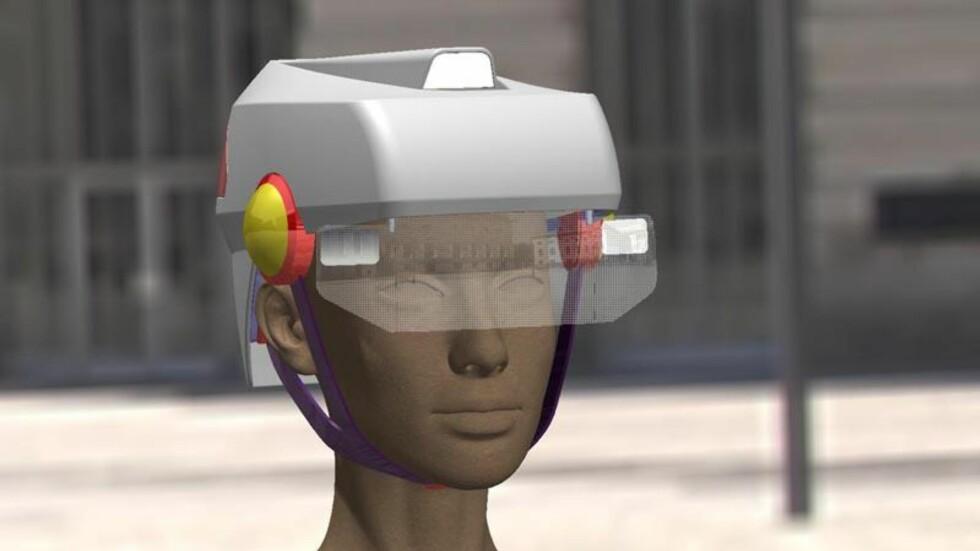 MED LYS OG LYKTER: Smart hjelm fra Toby King. (Heldigvis?) bare et konsept per i dag. Foto: SMART HAT