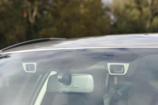 TO ØYNE: Sikkerhetssystemet Eye-Sight bruker to kameraer som øyne, for å se fremfor bilen.  Foto: FRED MAGNE SKILLEBÆK