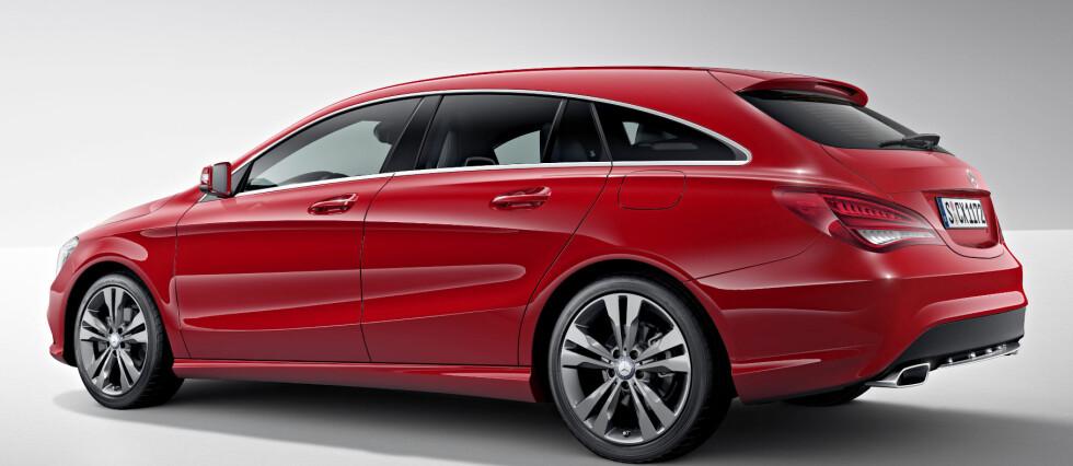 INSPIRERT AV CLS: Det er liten tvil om at CLA ligner mye på CLS.  Foto: Mercedes-Benz