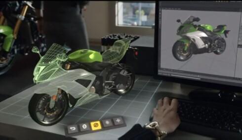 BYGGESETT: Bare fantasien setter grenser for hva du kan bygge med Microsofts nye teknologi. Foto: MICROSOFT