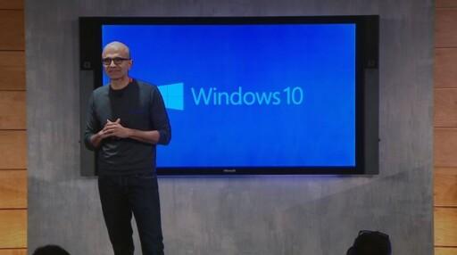 SAMHANDLING Windows 10 er det mest samarbeidsvennlige operativystemet noensinne, mener Microsofts toppsjef Satya Nadella. Foto: MICROSOFT