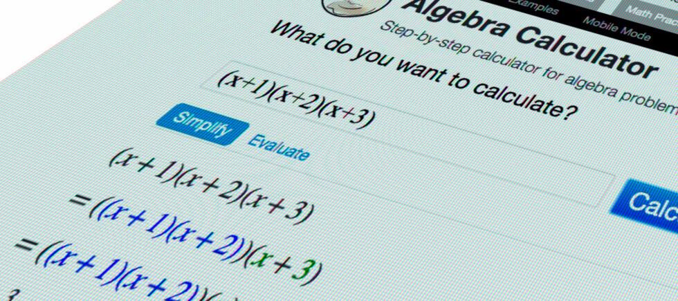IKKE ALLTID SÅ LETT: Er matteleksene en utfordring, kan denne kalkulatoren være til god hjelp. Foto: PÅL JOAKIM OLSEN