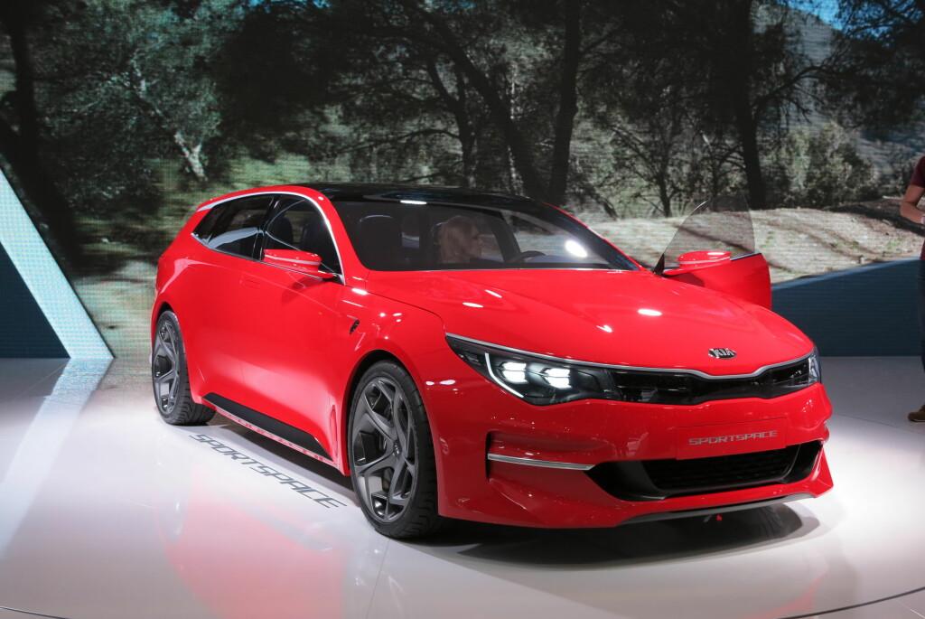 <B>STILIG STV.: <B>Kia viste en utrolig spennende bil -  Sportspace. Innen 18 måneder skal den være produksjonsklar bil. Da som stasjonsvognutgave av Kia Optima. Foto: FRED MAGNE SKILLEBÆK