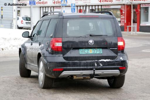 POLFARER? Denne Skodaen er en kommende bil forkledd som den eksisterende folkesuven Yeti. Om Amundsen blirdet endelige navnet, vites ikke. Foto: AUTOMEDIA