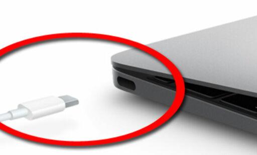 image: Nye MacBook har bare én usb-port