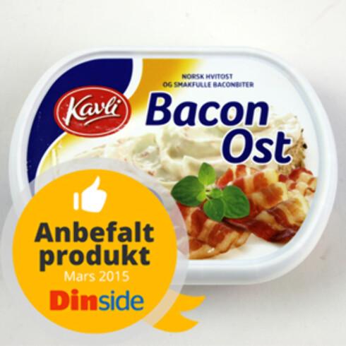 Kavli Baconost får terningkast 5 og vårt Anbefalt produkt-stempel. 200 gram, 26 kr  Foto: ELISABETH DALSEG
