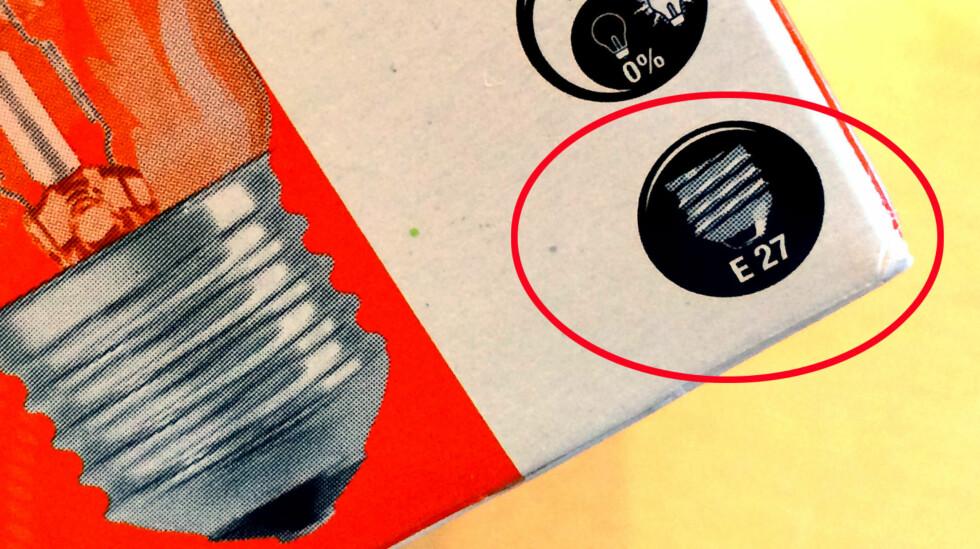 SOKKEL: Sjekk at du kjøper riktig sokkel. Du kan få både halogen-, LED- og sparepærer til tradisjonelle skrusokler. Foto: KRISTIN SØRDAL