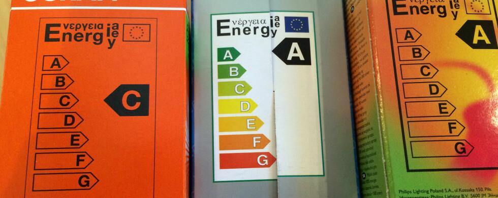 ENERGIVENNLIG? Haogenpæren til vestre er mye mindre energivennlig enn LED- og sparepæren ved siden av. Foto: KRISTIN SØRDAL