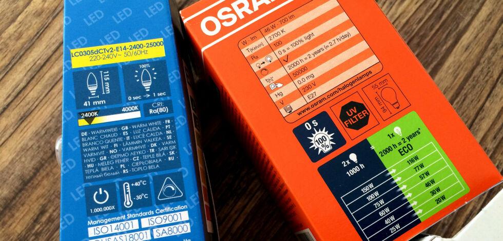 image: Dette betyr informasjonen på lyspære-emballasjen