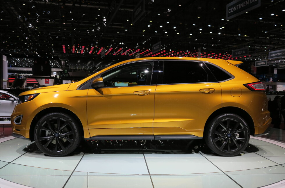 <strong><b>FOKUS PÅ DESIGN:</strong></b> Ford Edge S ble vist frem på bilmessen i Geneve, og det er tydelig at Ford har lagt mye jobb i designet.  Foto: FRED MAGNE SKILLEBEKK