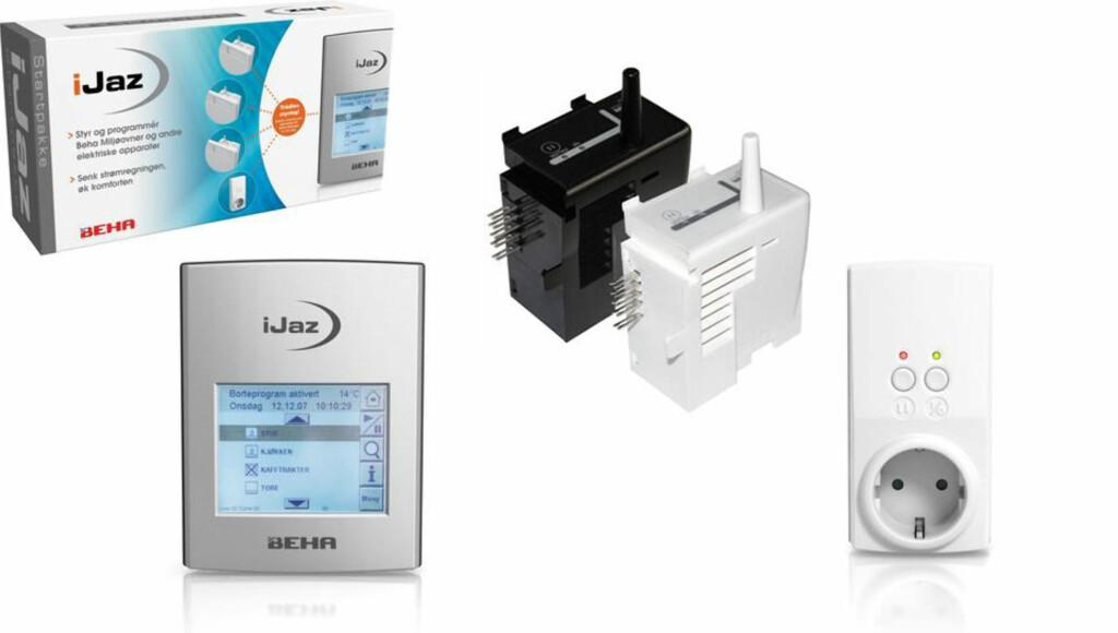 BEHA:  iJaz kan styre ovner fra Beha og andre apparater fra sentralenheten. Foto: Produsenten