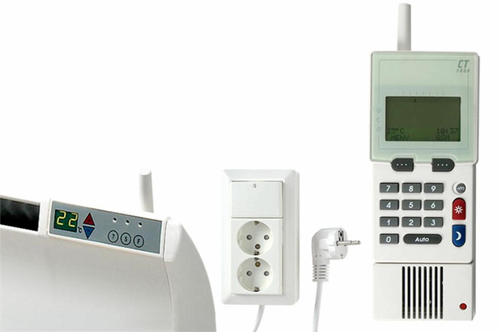GLAMOX:Harmony 5000 gir deg trådløs full kontroll over temperatur, lys og elektriske apparater. Foto: Produsenten
